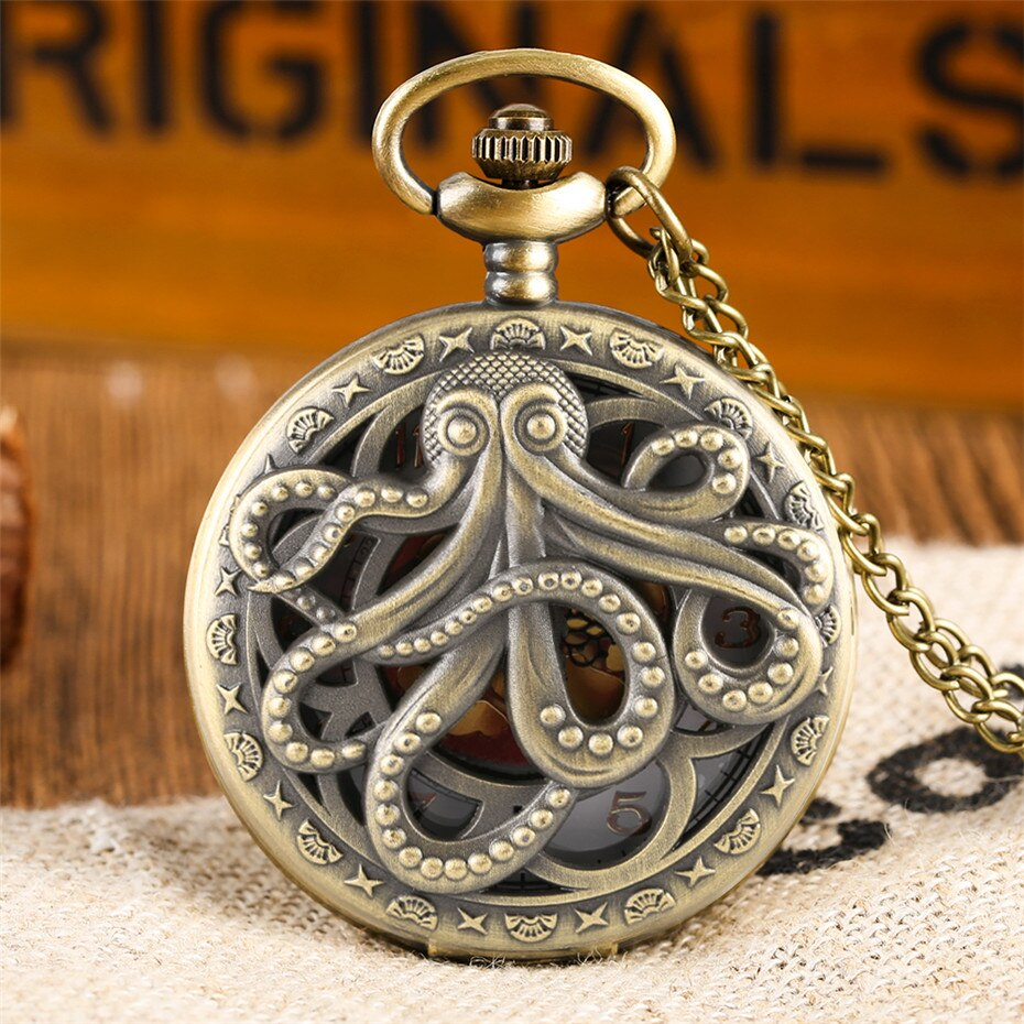 Release the Kraken Pocket Watch - GoGoGoth