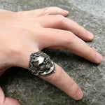 Badass Piraten Doodshoofd Ring - GoGoGoth