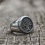 Tree of Life Ring - Stainless Steel - GoGoGoth