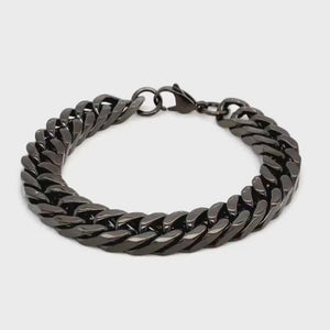 Black Stainless steel mens braclet