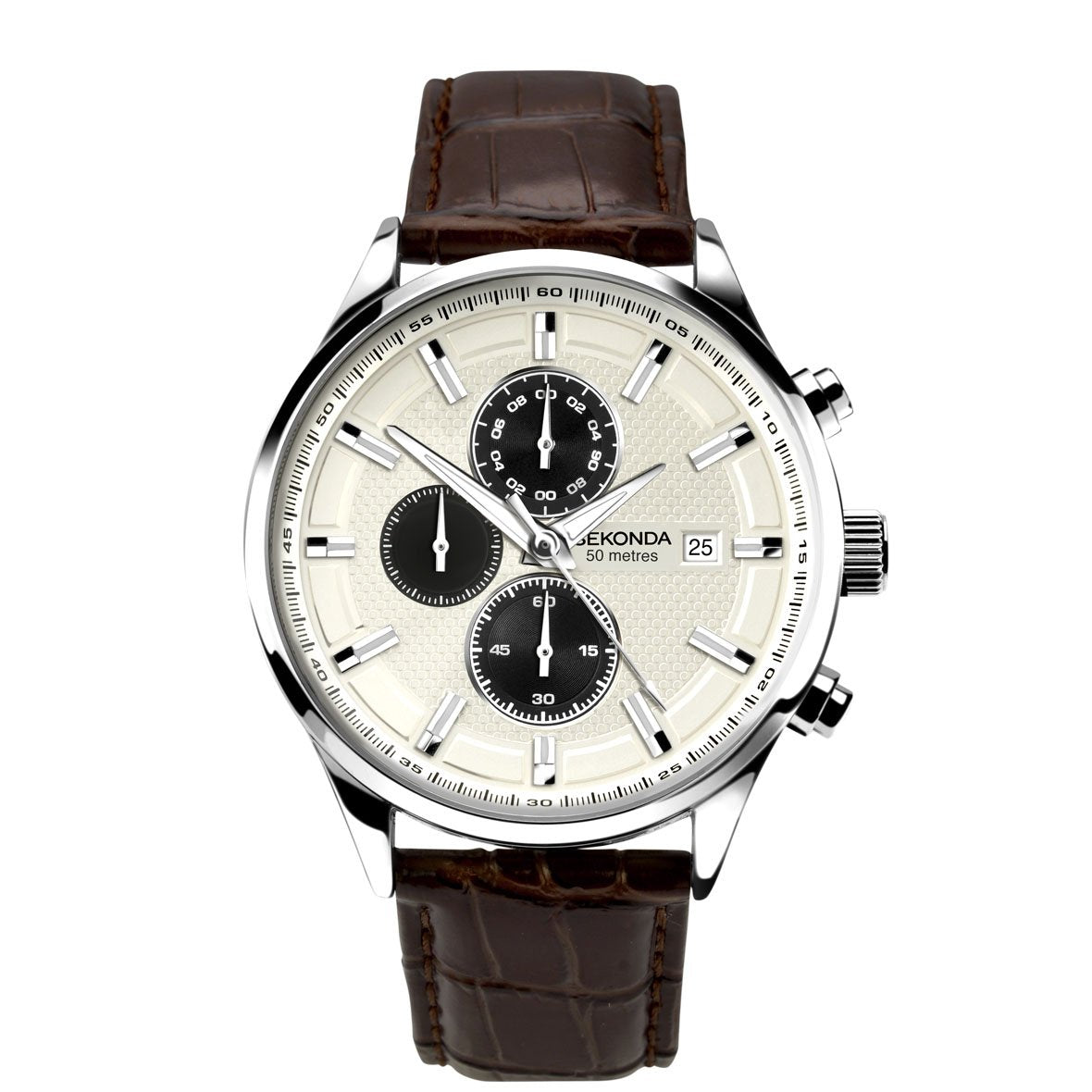 Sekonda Men's Leather Strap Chronograph Watch - Red Carpet Jewellers