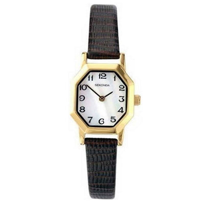 Ladies Mother Of Pearl Leather Strap Watch - Red Carpet Jewellers