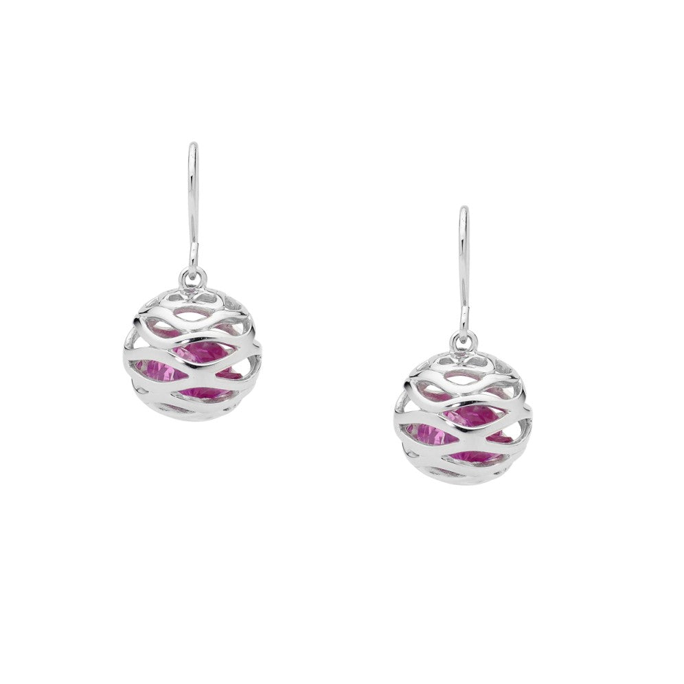 Sterling silver ball drop earrings - Red Carpet Jewellers