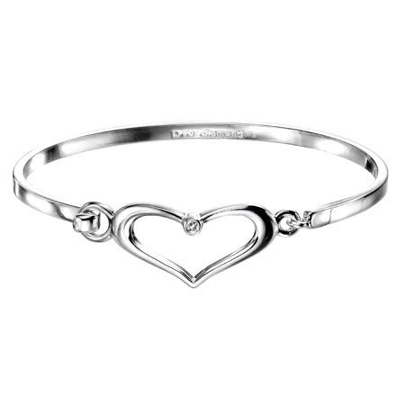 D for Diamond heart bangle - Red Carpet Jewellers