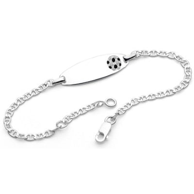 sterling silver soccer ball ID bracelet - Red Carpet Jewellers