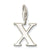 Letter X charm - Red Carpet Jewellers