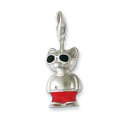 Beach bear charm - Red Carpet Jewellers