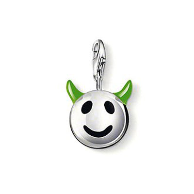 "Thomas Sabo ""smiley face with horns"" charm - Red Carpet Jewellers"