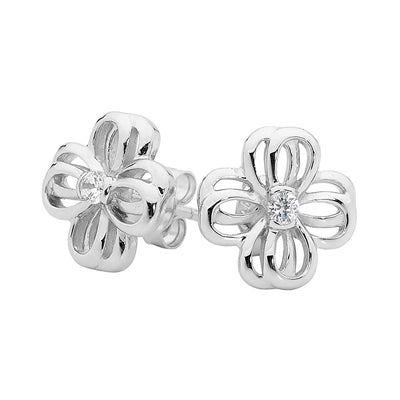 Double Bow Studs - Red Carpet Jewellers