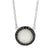 Mother of Pearl and cz round pendant - Red Carpet Jewellers