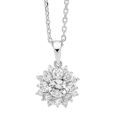 """Cluster"" cz pendant - Red Carpet Jewellers"