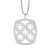 """Cushion Silhouette"" cz pendant - Red Carpet Jewellers"