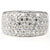 Sterling silver band pavé set ring - Red Carpet Jewellers