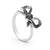 "black cz ""bow"" ring - Red Carpet Jewellers"