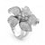 Sterling silver CZ lily ring - Red Carpet Jewellers