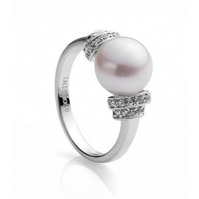 Sterling silver pearl cz ring - Red Carpet Jewellers