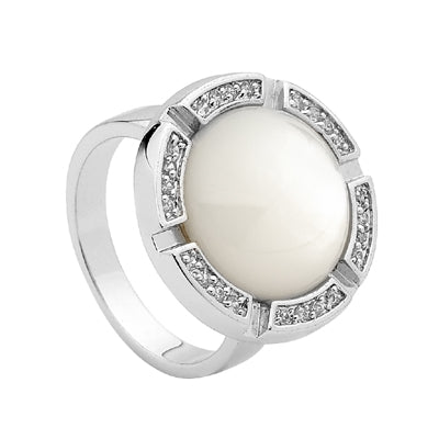 Mother of Pearl and cz ring - Red Carpet Jewellers