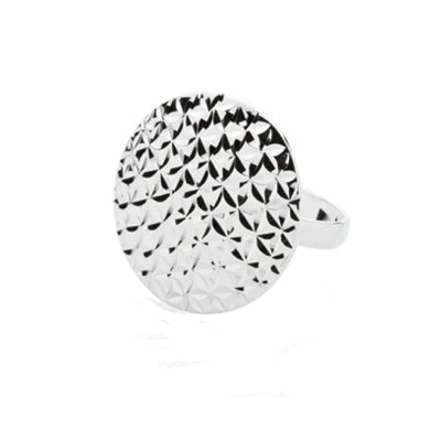Sterling silver disc ring. - Red Carpet Jewellers