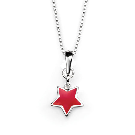 D for Diamond star pendant - Red Carpet Jewellers