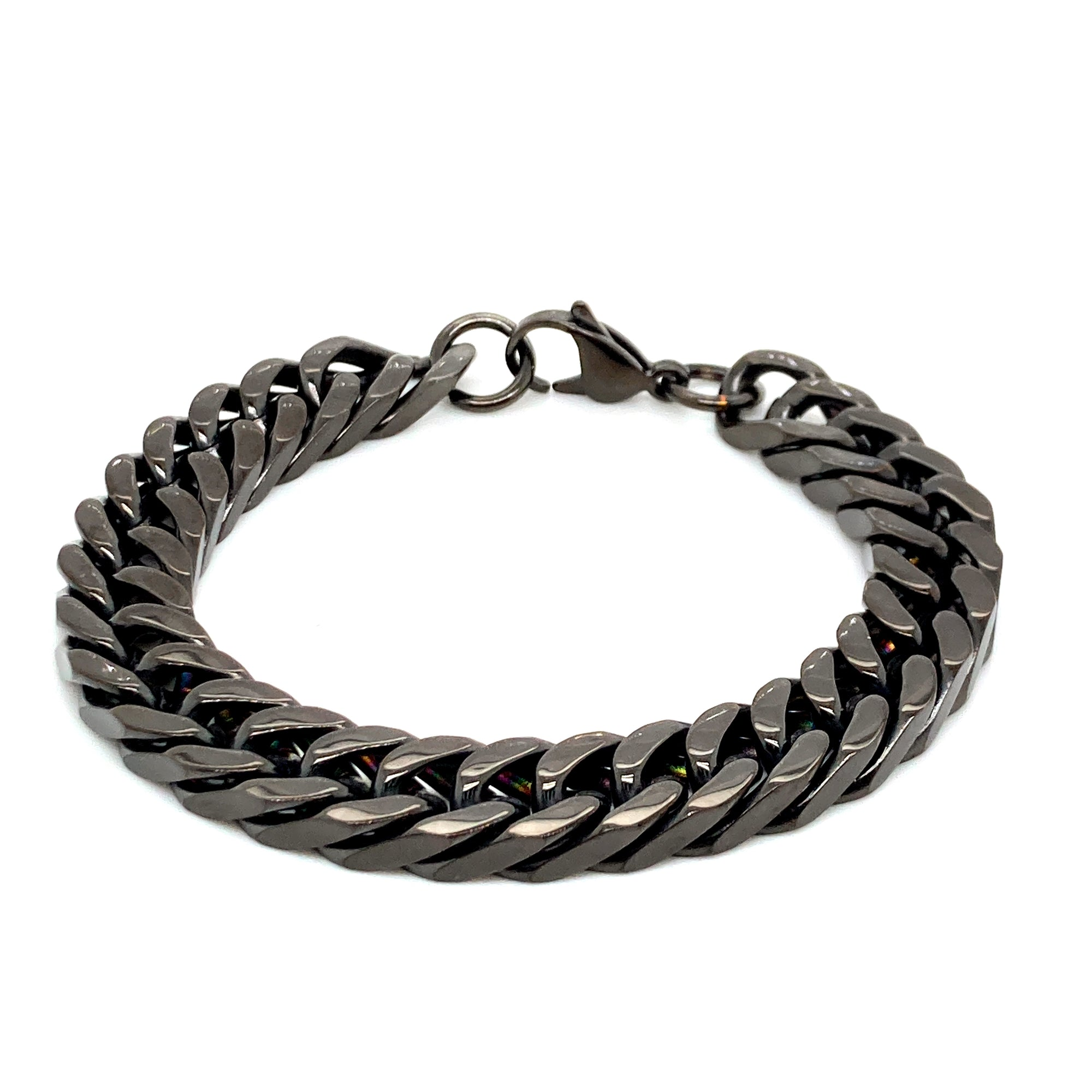 Black Stainless steel mens braclet - Red Carpet Jewellers
