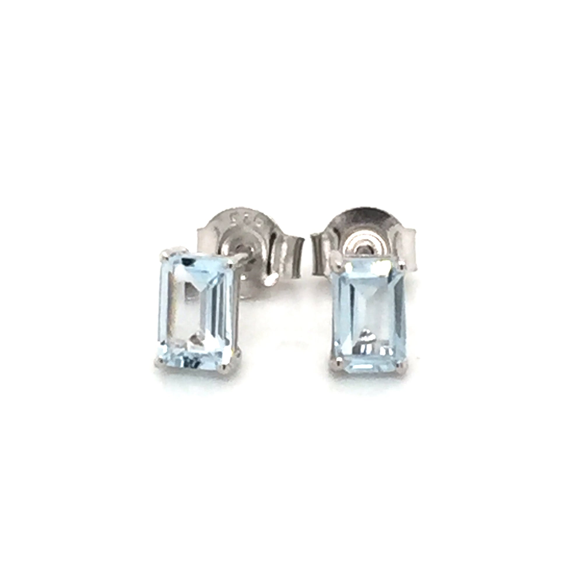 Sterling silver blue topaz earrings - Red Carpet Jewellers