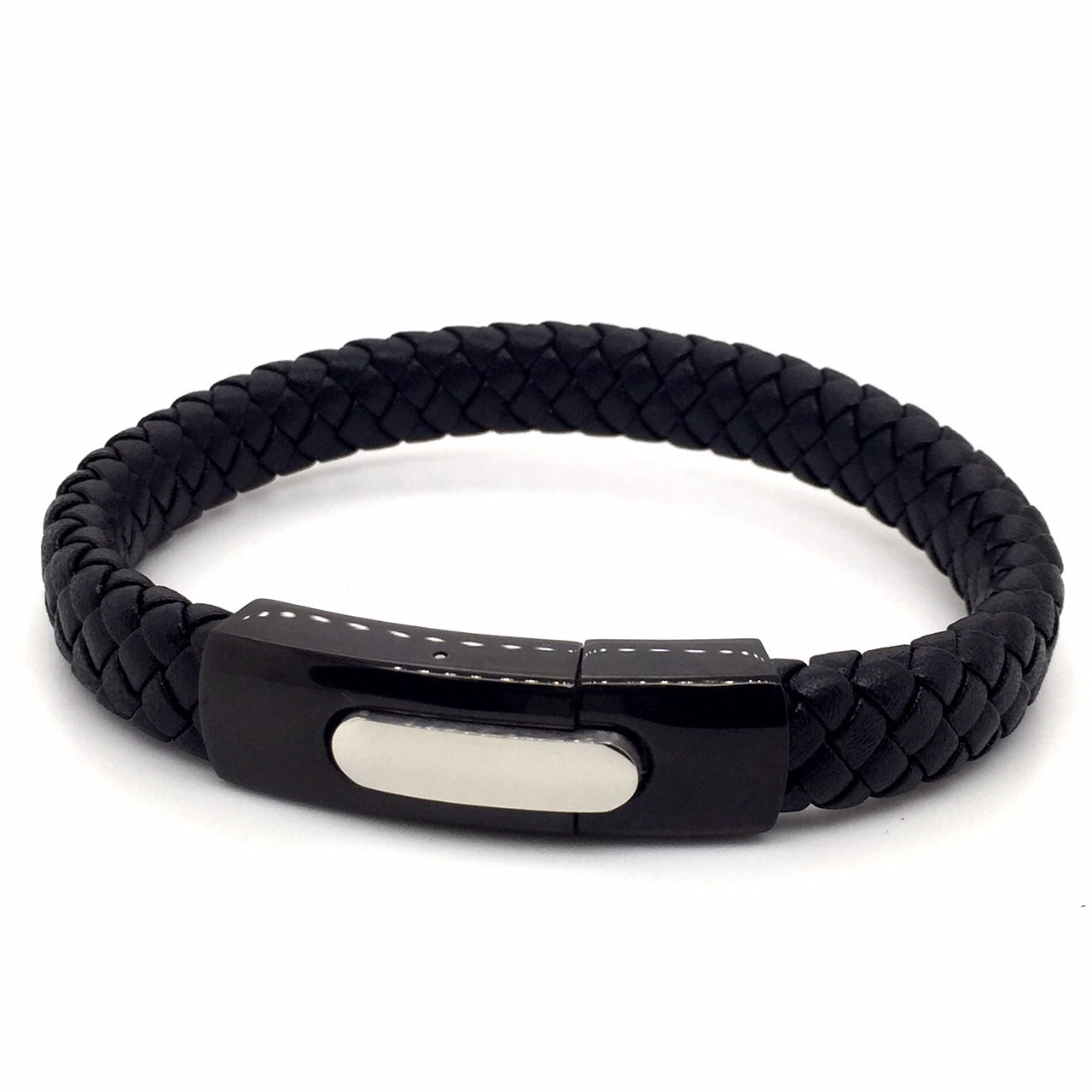 Stainless steel leather bracelet - Red Carpet Jewellers