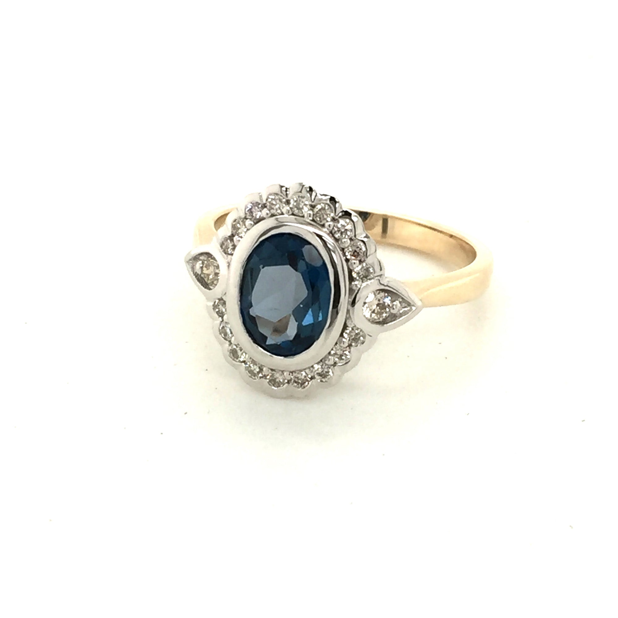 9ct gold London blue topaz ring - Red Carpet Jewellers