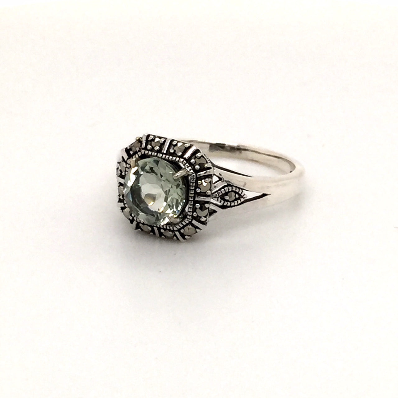 Sterling silver green amethyst ring - Red Carpet Jewellers