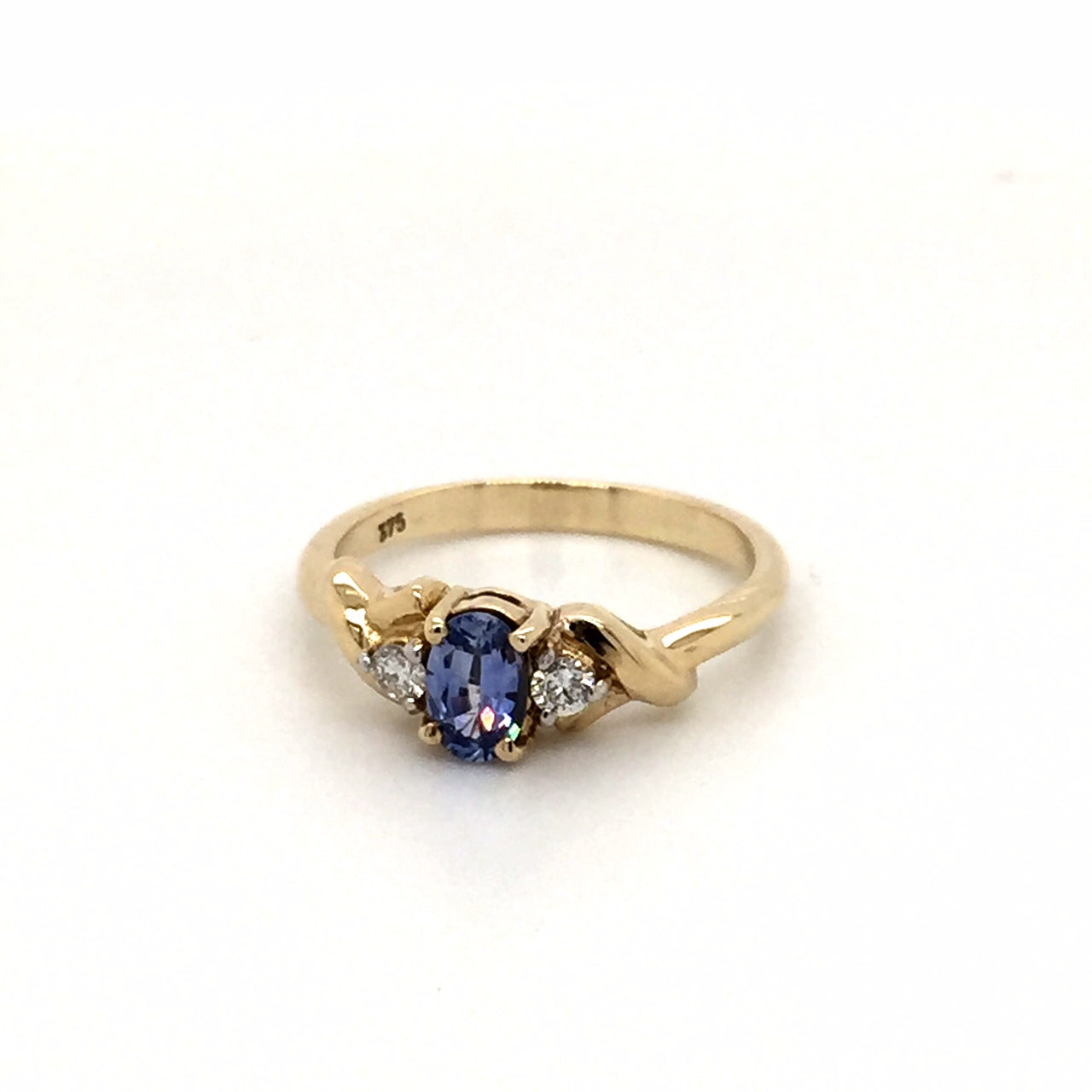 9ct gold Sapphire diamond ring - Red Carpet Jewellers