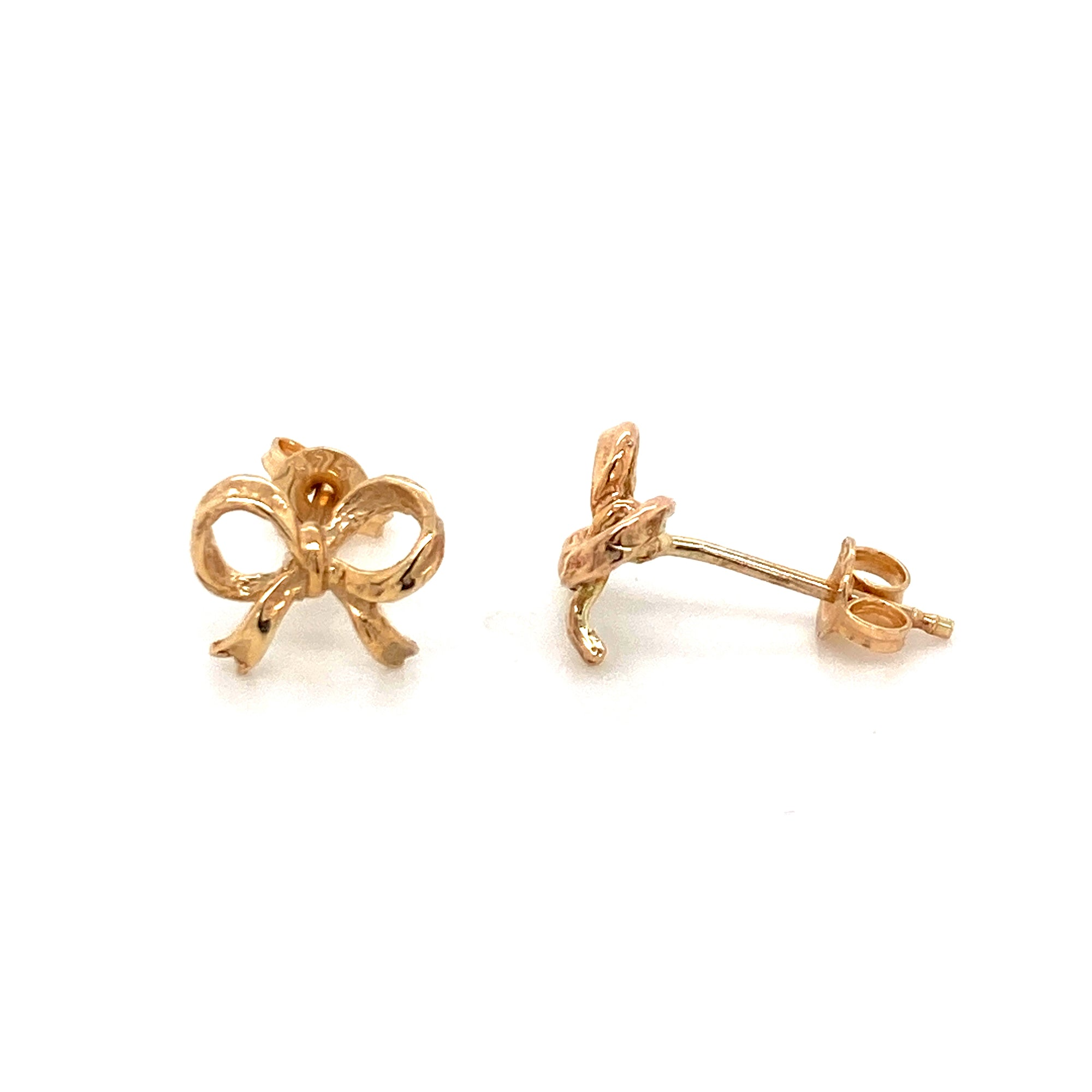 9ct bow studs - Red Carpet Jewellers