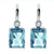 Sterling silver blue cz drop earrings. - Red Carpet Jewellers