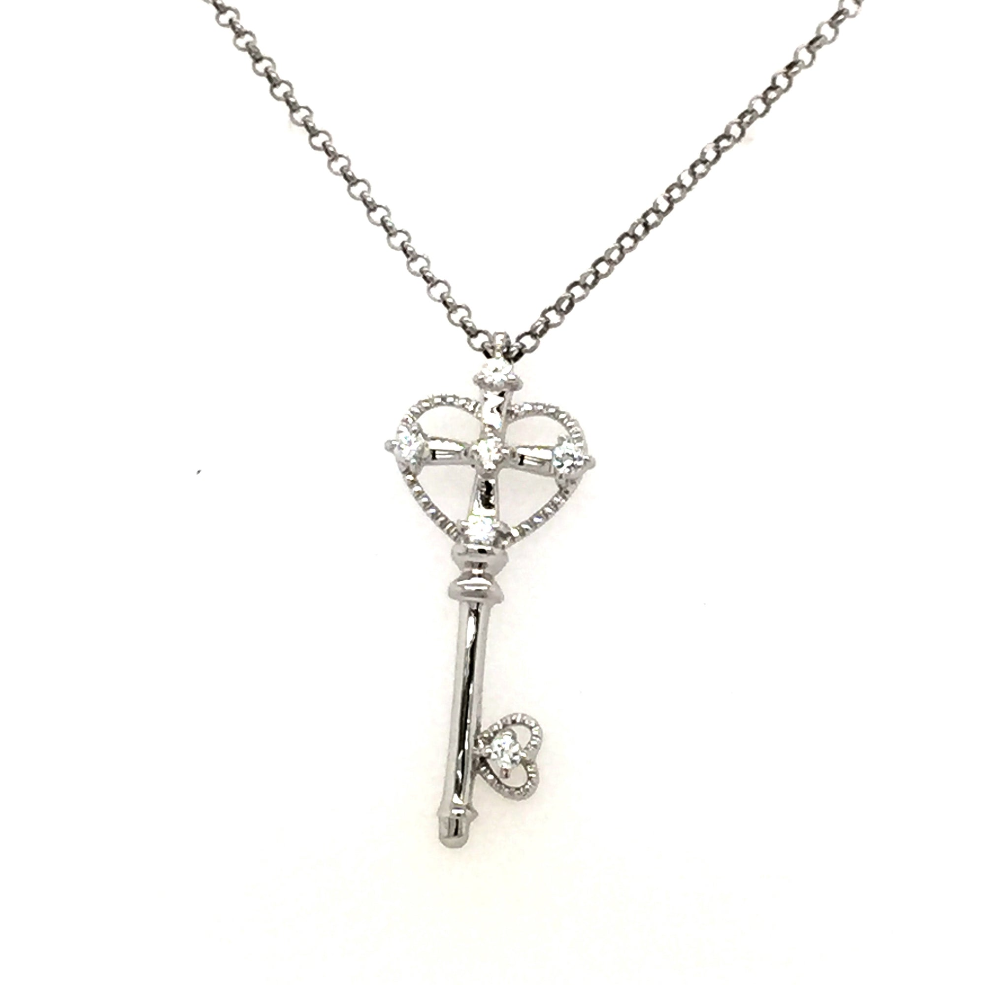 Sterling silver key pendant. - Red Carpet Jewellers