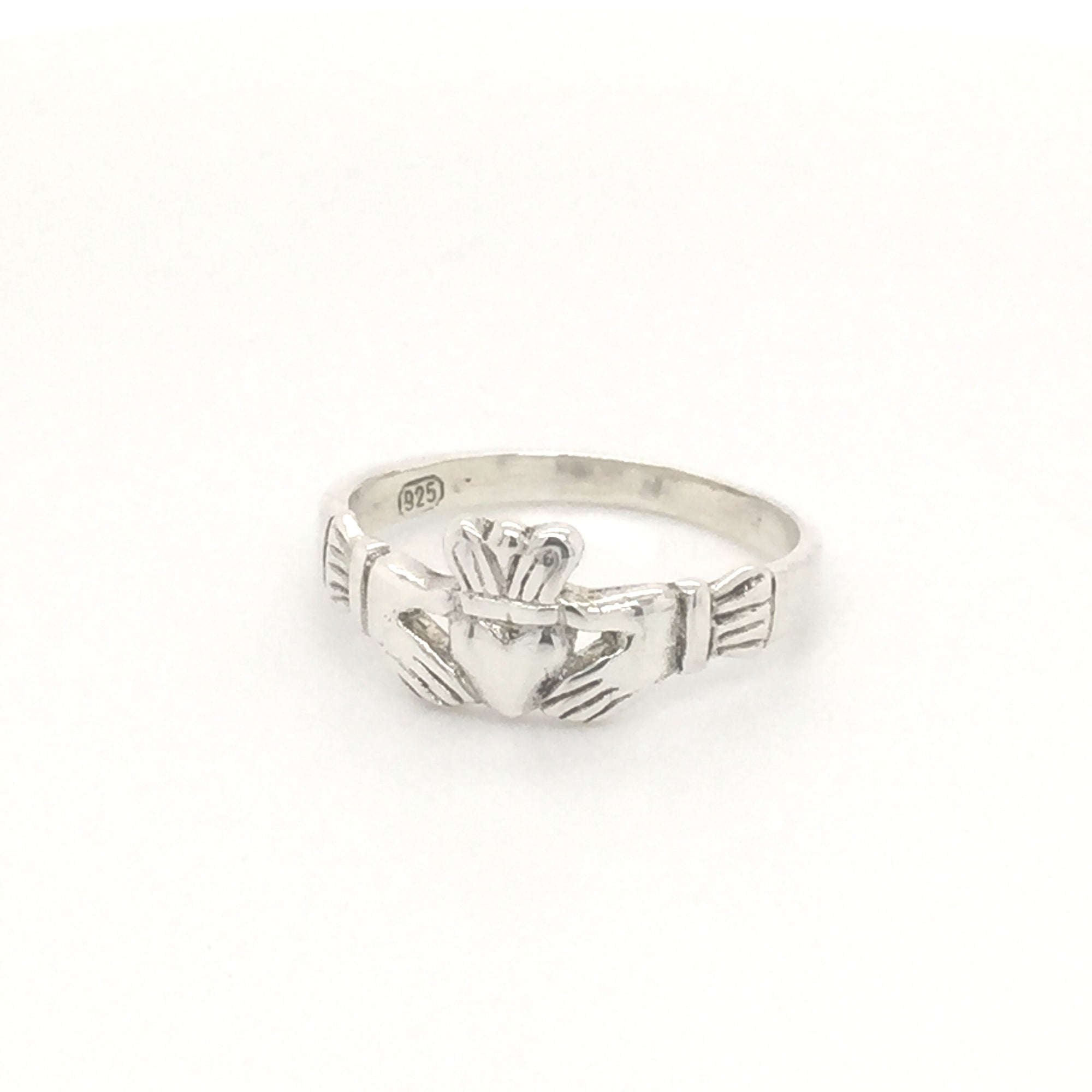 Sterling silver Irish claddagh ring. - Red Carpet Jewellers