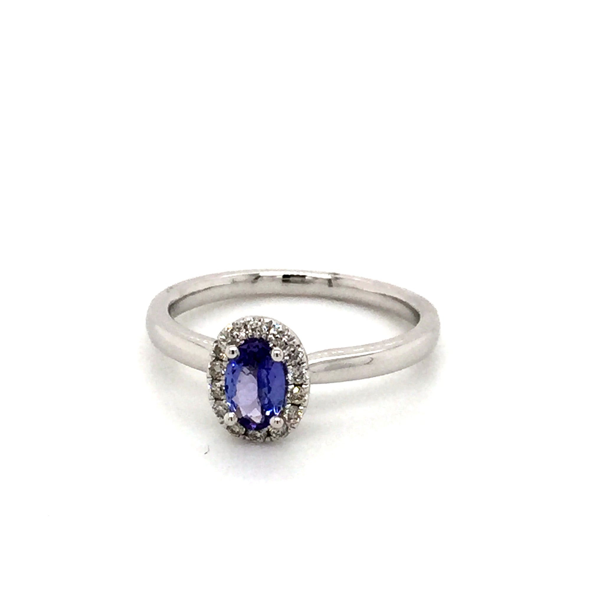 9ct Tanzanite and diamond ring - Red Carpet Jewellers