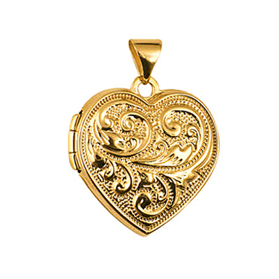 9ct Heart Locket - Red Carpet Jewellers