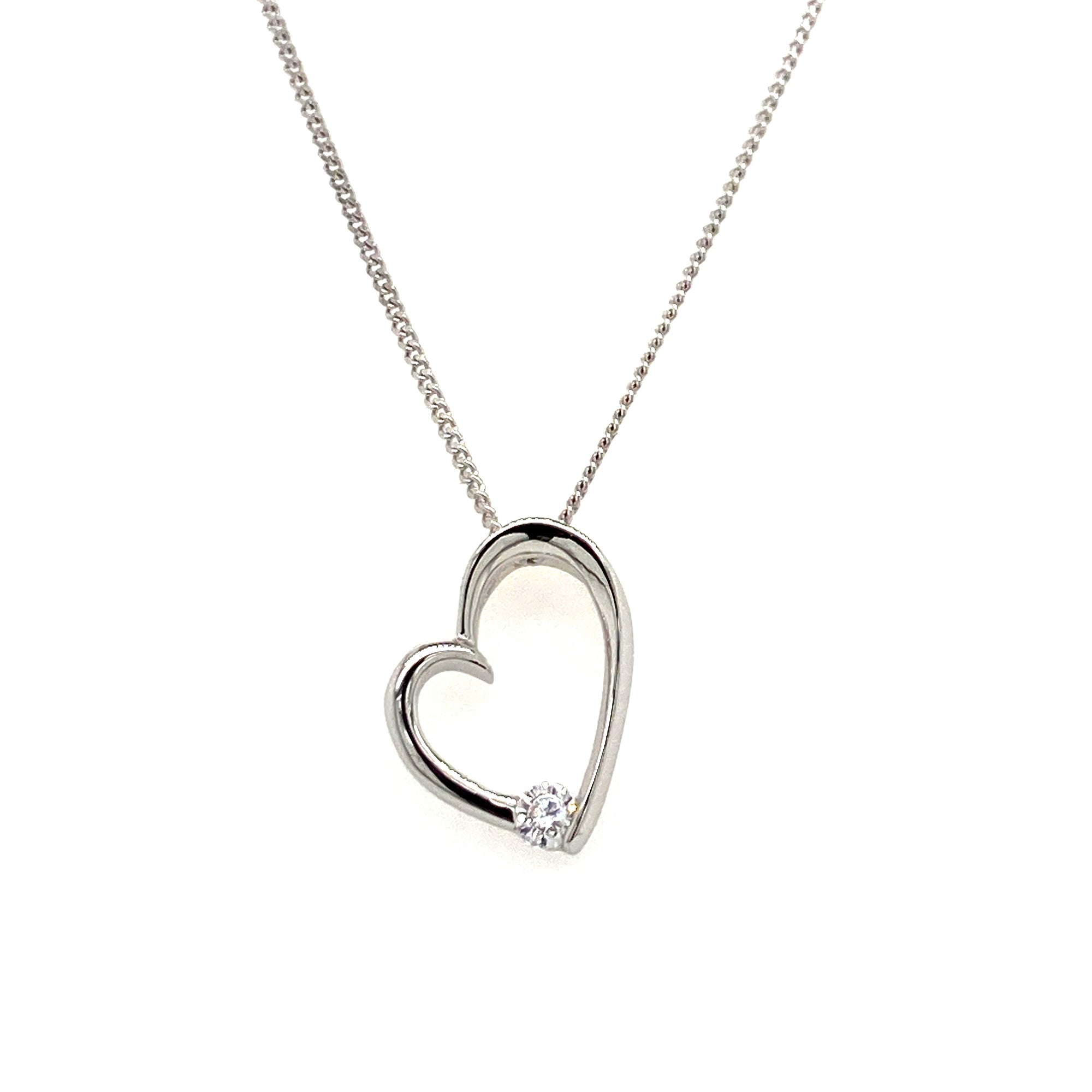 Sterling silver heart pendant - Red Carpet Jewellers