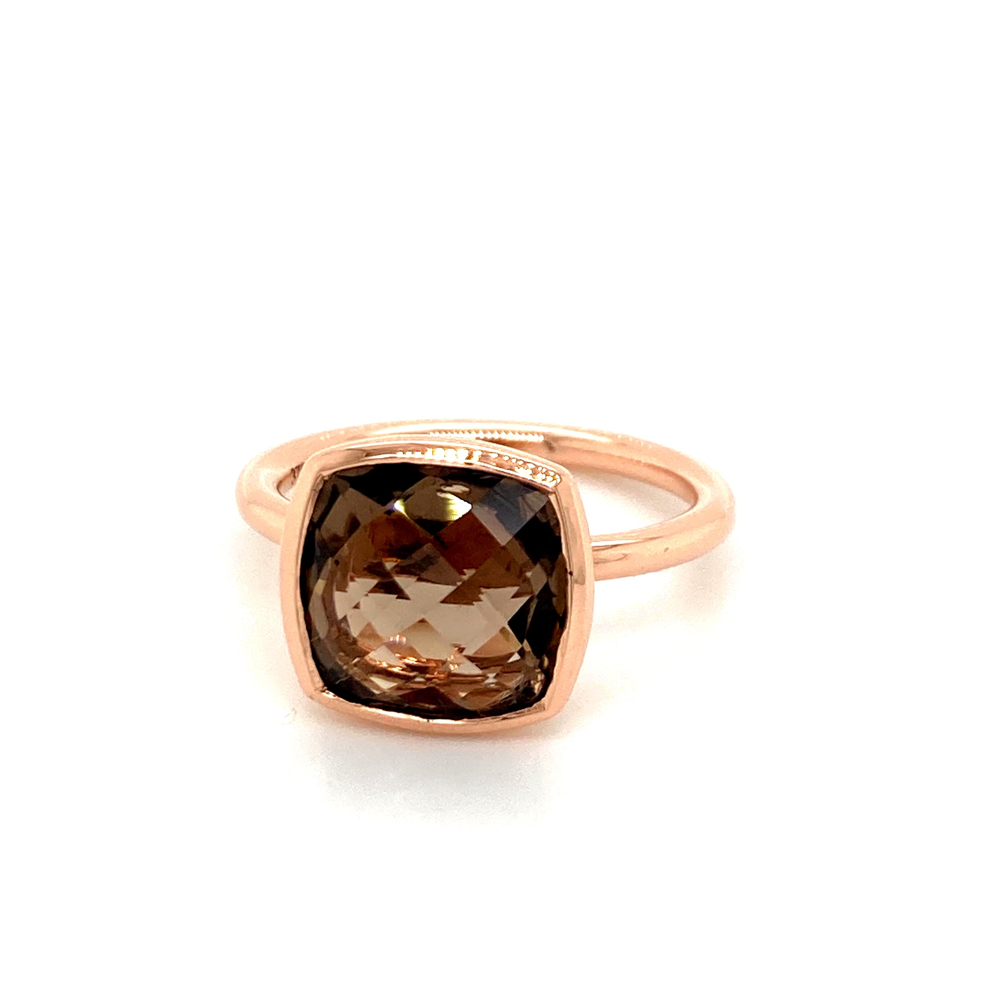 9ct Rose gold Smoky Quartz ring - Red Carpet Jewellers