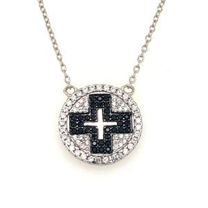 Sterling silver cross pendant - Red Carpet Jewellers