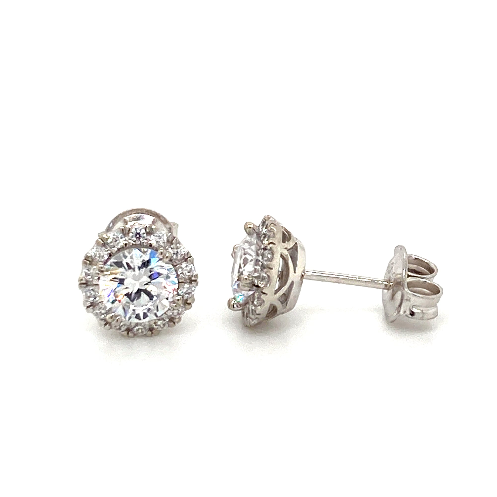 Sterling silver cz stud earrings - Red Carpet Jewellers