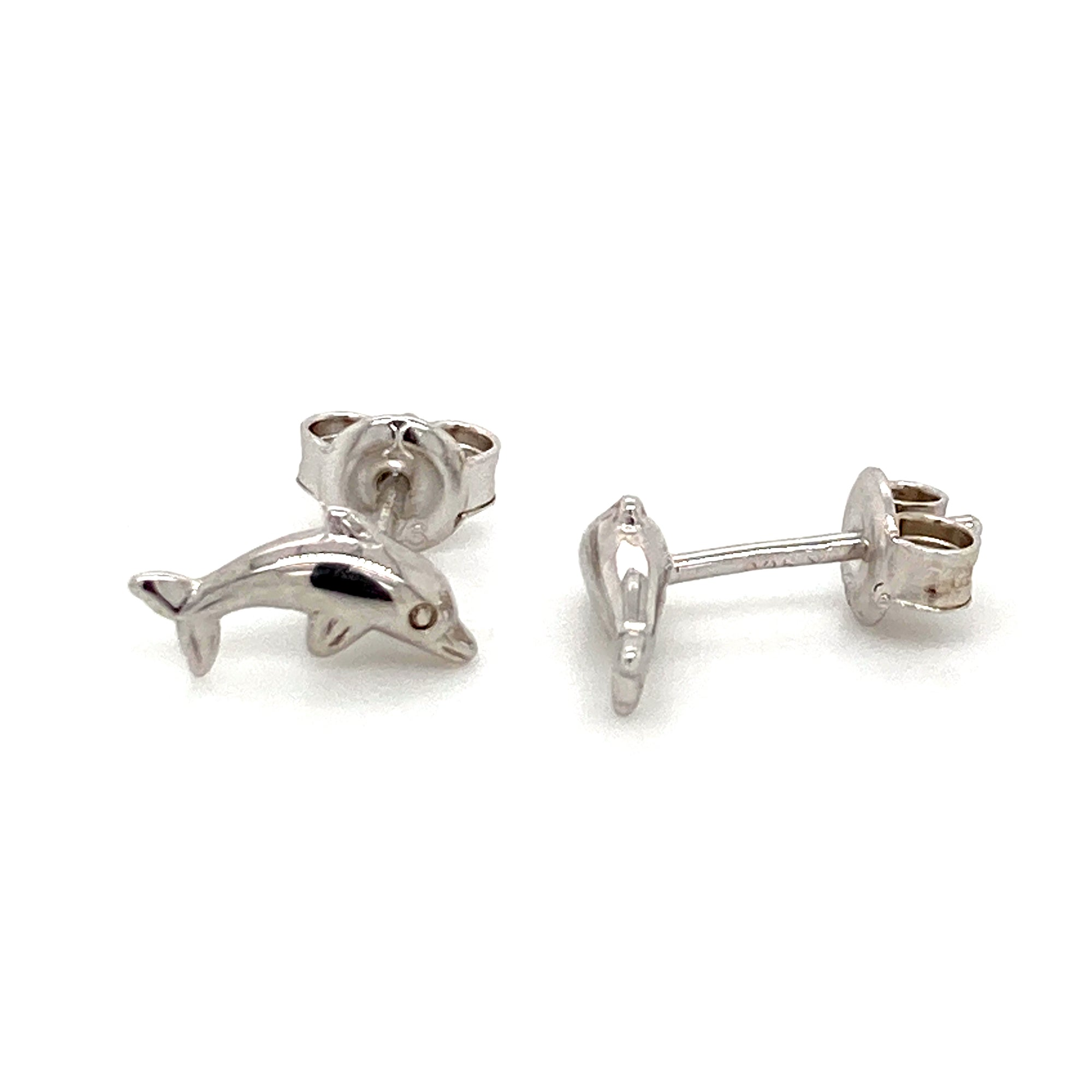 Sterling silver Dolphin stud earrings - Red Carpet Jewellers