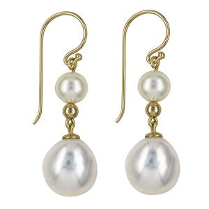 9ct gold Freshwater Cultured Pearl earrings - Red Carpet Jewellers