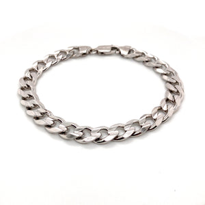 Sterling Silver concave curb bracelet - Red Carpet Jewellers