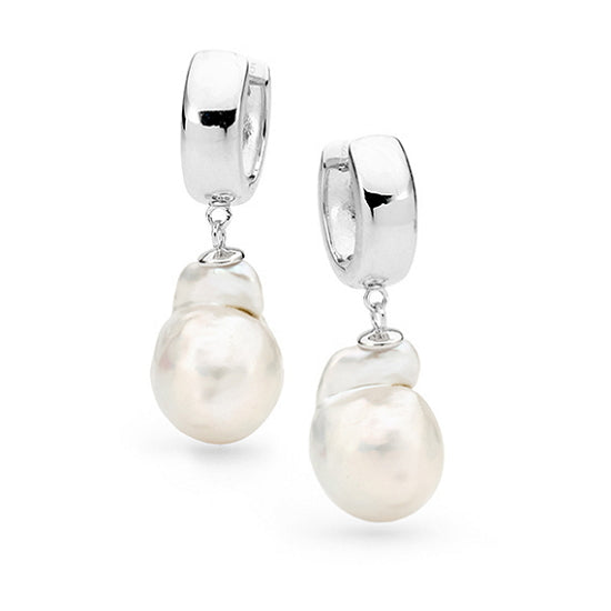 Nucleated baroque pearl earrings - Red Carpet Jewellers