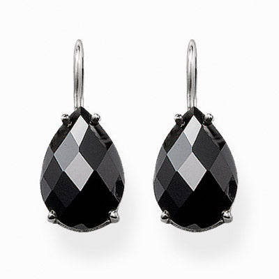 Thomas Sabo SPECIAL ADDITION black cubic zirconia drop earrings - Red Carpet Jewellers