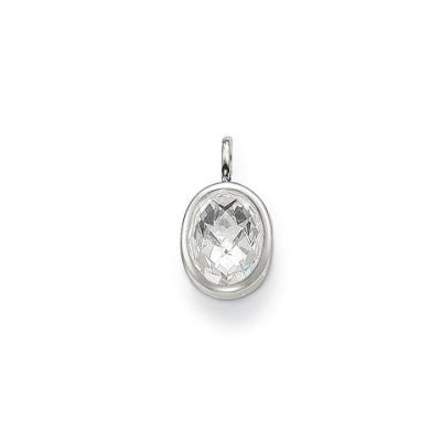 Thomas Sabo SPECIAL ADDITION cubic zirconia oval pendant - Red Carpet Jewellers