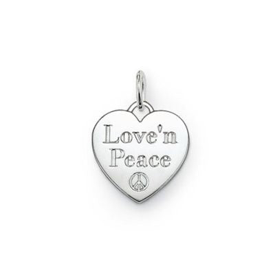 "Thomas Sabo SPECIAL ADDITION ""Love'n'Peace"" heart pendant - Red Carpet Jewellers"