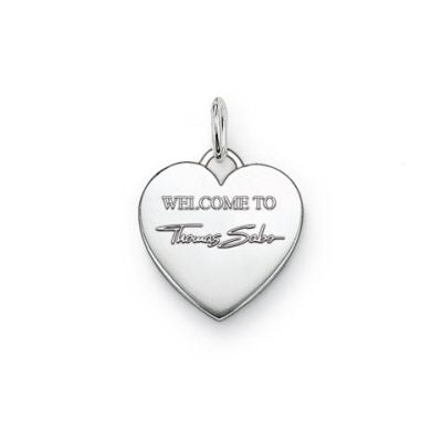 "Thomas Sabo SPECIAL ADDITION ""Welcome to Thomas Sabo"" heart pendant - Red Carpet Jewellers"