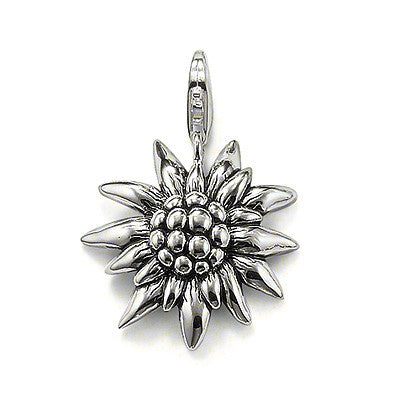 "Thomas Sabo blackened sterling silver ""Edelweiss"" pendant - Red Carpet Jewellers"