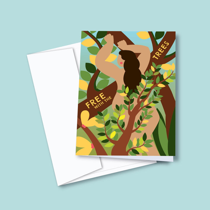 Free With The Trees — Greeting Card