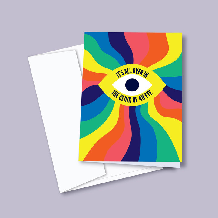 Blink Of An Eye — Greeting Card